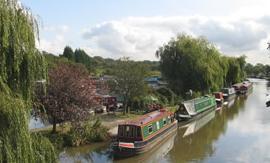 ANDERTON - En av våra baser för kanalbåtar i England