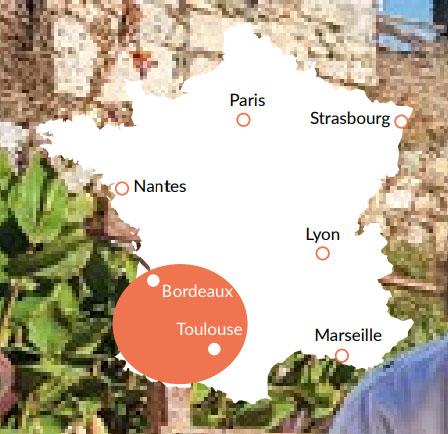 Aquitaine - En av våra baser för kanalbåtar i Europa