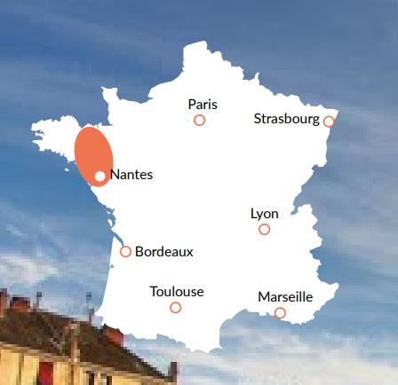 Bretagne - En av våra baser för kanalbåtar i Europa