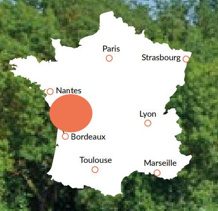Charente - En av våra baser för kanalbåtar i Europa