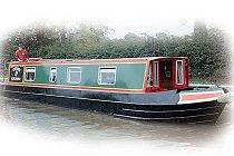 Bild på Grebe kanalbåt i England