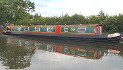 Bild på Owl kanalbåt i England