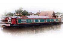 Bild på Trush kanalbåt i England